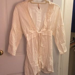 Cream Bathing suit Cover Up